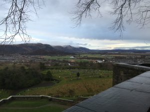 View of the Carse from Stirling Castle battlements