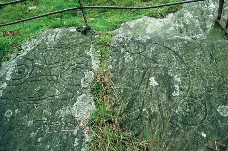 Pictish symbol stone at Trusty's Hill