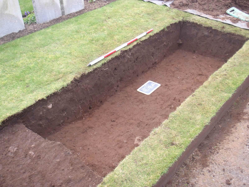 Investigations within Ardrossan Cemetery