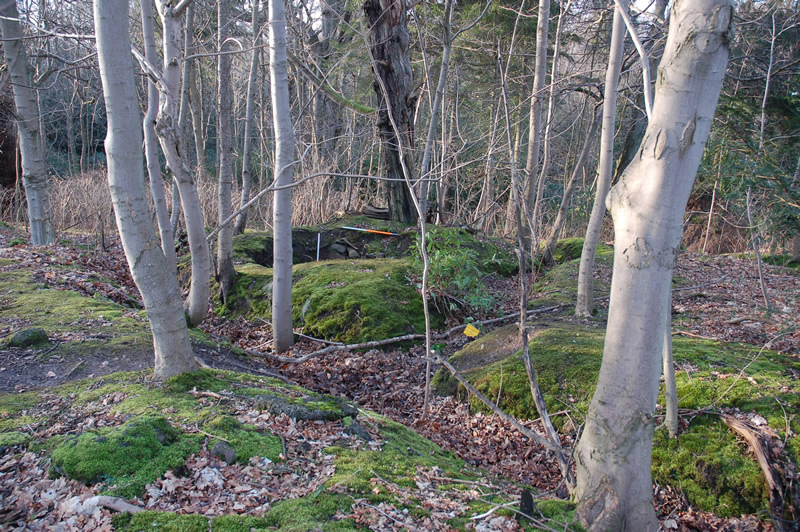 Survey of World War I training trenches at Dreghorn