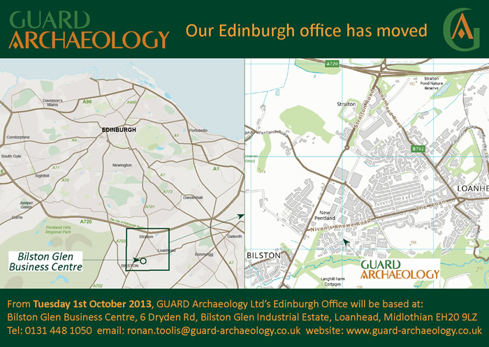 GUARD Archaeology Ltd's new Edinburgh office