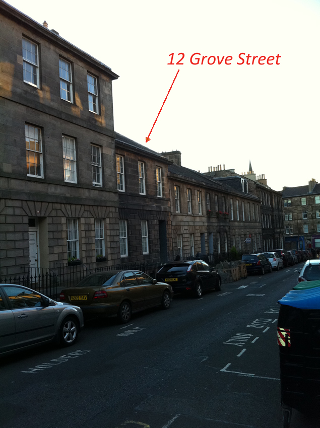 Terraced housing at Grove Street, Edinburgh