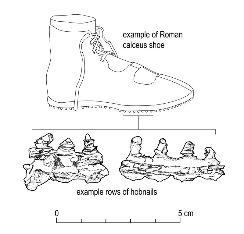 Drawing of Roman Boot from Carzield