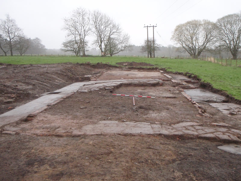 Structure B. Latrines at right centre. © GUARD Archaeology Ltd