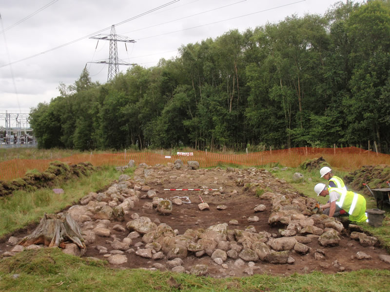 Excavation of the medieval farmstead at Kintore
