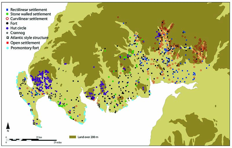 Distribution of Iron Age Settlements across Dumfries and Galloway