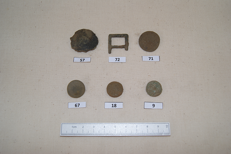 Buckle and buttons from Killiecrankie Battlefield
