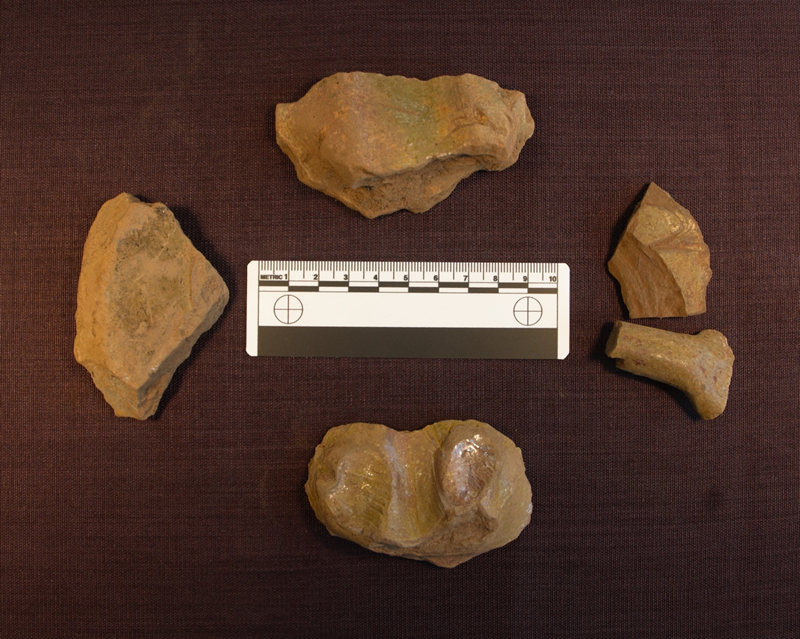 Selection of medieval pottery sherds from Netherton