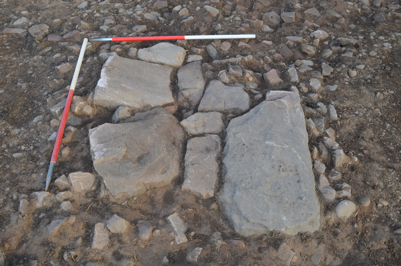 Paving slabs unearthed at Netherton