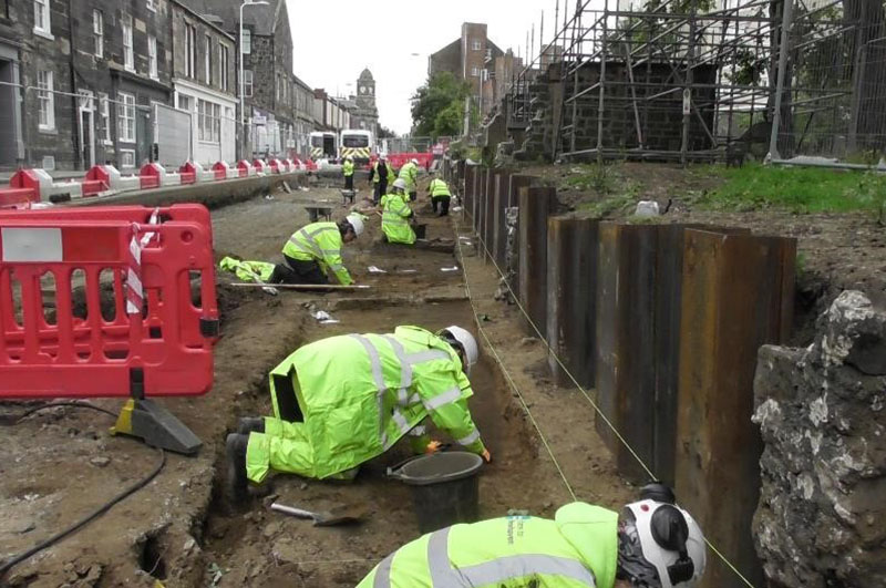Excavating a medieval graveyard in Leith